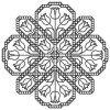 Другие виды рукоделия Схема черно-белая графика Тюльпаны,артикул:Ch_B112-03C