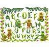 Вышивание Растительный алфавит (Lion and hippopotamus Sampler),артикул:BK-306