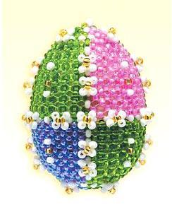 Вышивка бисером на яйце схема
