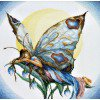 Вышивание Бабочка ночь (лен),артикул:PN-0007938 (23008)