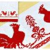Вышивание рушник Петухи,артикул:183(П)