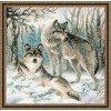 Вышивание Волчья пара,артикул:1393