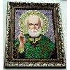 Вышивание Готовая картина из страз икона Николай Чудотворец,артикул:М0023