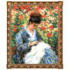 Вышивание Мадам Моне за вышивкой (по мотивам картины Клода Моне),артикул:100-051