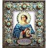 Вышивание Набор для вышивания хрустальными бусинами и настоящими камнями икона Святая Анастасия,артикул:77-и-11