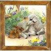 Вышивание Ягненок и кролик,артикул:PT-0051