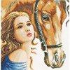 Вышивание Девушка с лошадью (Women and Horse),артикул:PN-0158324