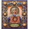 Вышивание Набор для вышивания хрустальными бусинами и настоящими камнями икона Святая Вероника,артикул:77-и-59