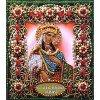 Вышивание Набор для вышивания хрустальными бусинами и настоящими камнями икона Святая Тамара,артикул:77-и-14