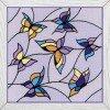Вышивание Панно или подушка Витраж. Бабочки,артикул:1625