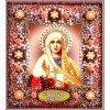 Вышивание Набор для вышивания хрустальными бусинами и настоящими камнями икона Святая Евгения,артикул:77-и-56