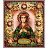 Вышивание Набор для вышивания хрустальными бусинами и настоящими камнями икона Святая Вера,артикул:77-и-17