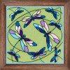 Вышивание Подушка/панно Витраж. Стрекозы,артикул:1655