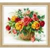 Вышивание Корзина с розами,артикул:1722