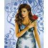 Вышивание Леди в голубом (лен),артикул:35027