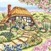 Вышивание Домик с розами (Rose Cottage),артикул:PCE-944