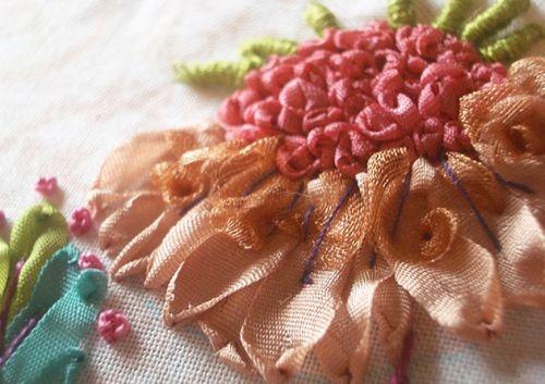 Основные правила вышивки лентами